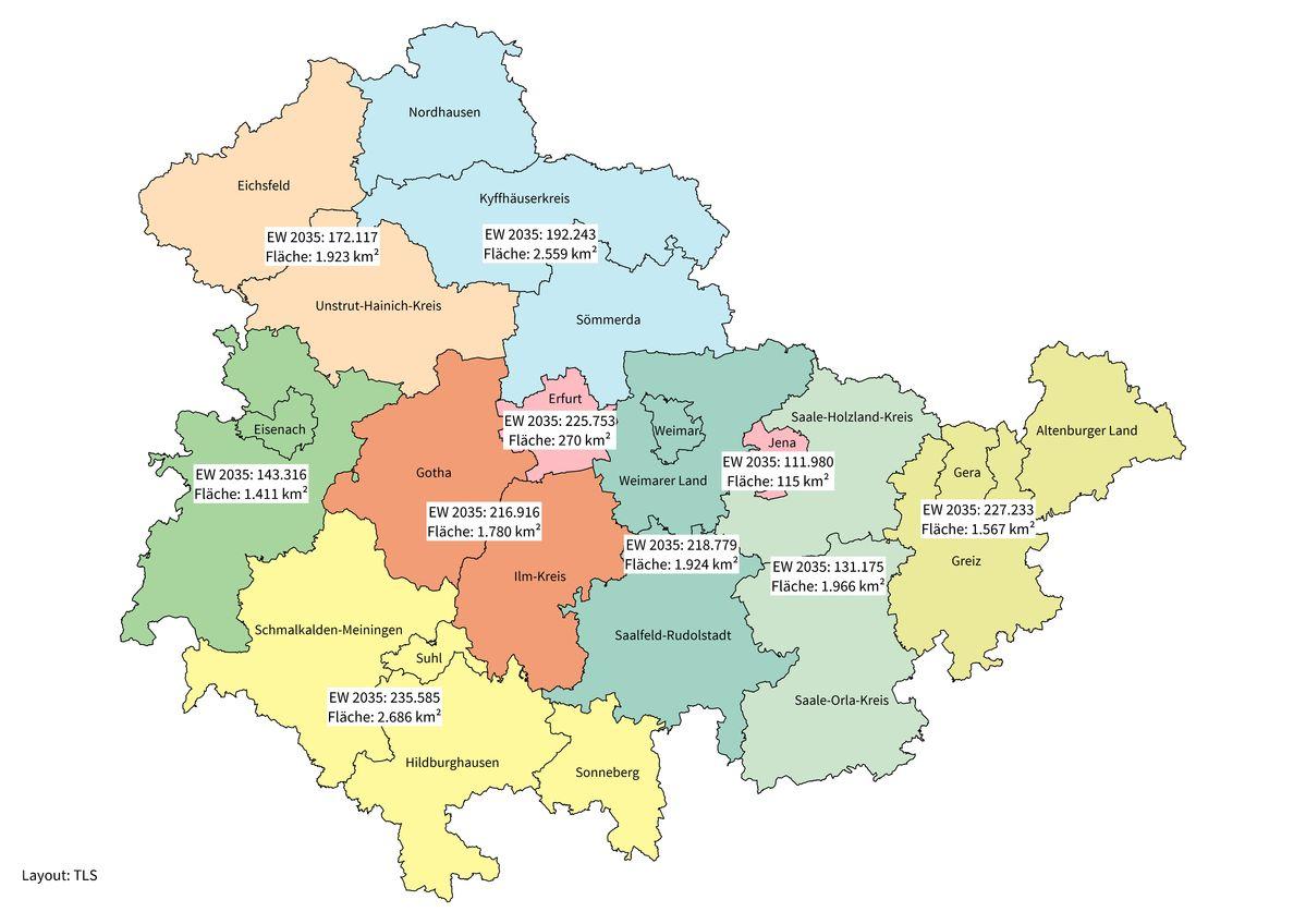 Karte Gebietsreform