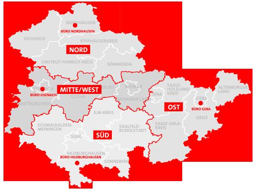 Unsere Regionalbereiche